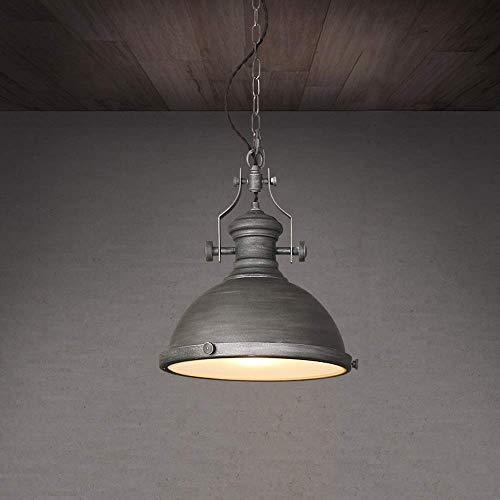 Decke Anhänger-beleuchtung (QTRT Zement Farbe Industrie Anhänger Beleuchtung Lager Retro Eisen Metall Decke Anhänger Beleuchtung E27 Edison einstellbare hängende Pendelleuchte for Esszimmer Coffee-Shop Dekor)