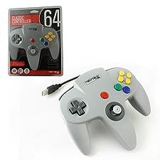 Manette USB Pour Pc Windows & MAC - Forme Nintendo 64 N64 Grise