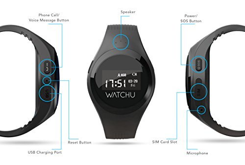 WATCHU Guardian – GPS Tracking Mobile Phone Watch Designed Specifically For The Elderly and Vulnerable Adults