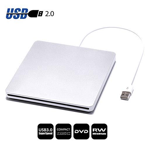 Traioy USB 2.0 CD/DVD-Brenner mit externem Brenner DVD-ROM Optisches Laufwerk Player Steckplatz Portatil für Desktop & Notebook-Recorder