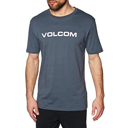 Volcom Herren Crisp Euro BSC SS T-Shirt, Midnight Blue, XL - Midnight Blue Shirt