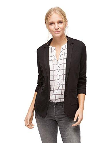 TOM TAILOR Blazer / Vest Blazer mit Stretch-Anteil black XS (Reverskragen Blazer Stretch)