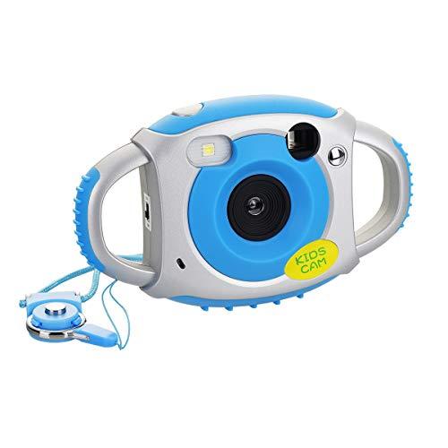Tyhbelle Digital Kamera für Kinder Kinderkamera mit Wiederaufladbare Batterien 500 Millionen Pixel 1,77-Zoll-Farbbildschirm(Blau) 24 Taste Digital-display