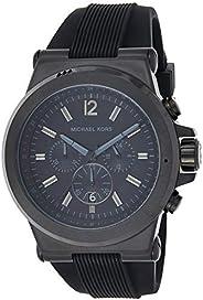 Michael Kors Mens Quartz Watch, Analog Display and Silicone Strap MK8152