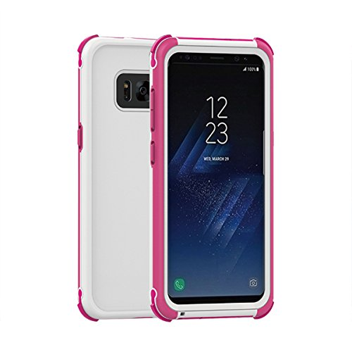 fitmore Samsung Galaxy S8 Waterproof Case, Samsung Galaxy S8 Underwater Shockproof Case Anti-Cracking with Built-in Screen Protector Rugged Durable Protective Case - Pink