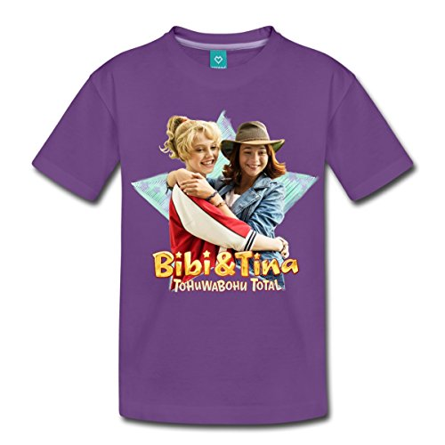 Spreadshirt Bibi Und TinaTohuwabohu Total Freundinnen Kinder Premium T-Shirt, 122/128 (6 Jahre), Lila (Einheitliche T-shirt Lila)