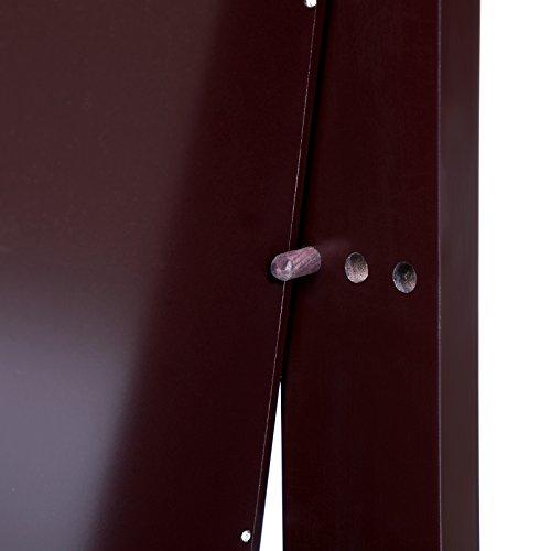 Songmics LED Schmuckschrank extra breiter Spiegel (Rahmenlose Spiegeltür) mit 5 Ablagen abschließbar braun JBC103K - 9