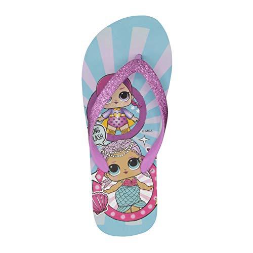 L.O.L. Surprise! Girls Flip Flops with Glitter Upper