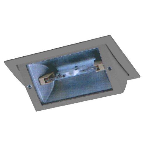 CLE Einbauleuchte für Osram HQI-TS 150W alu grau