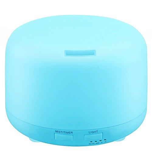 KBAYBO 300ml Aroma Humidificador de Aire por Ultrasonidos con 7 Luces de Color Eléctrico Aromaterapia Aceite Esencial Difusor de Aroma (Whitout Control Remoto)