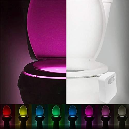 Lorenlli Smart LED Sensor de Movimiento Humano Baño Activado Luz de Noche...