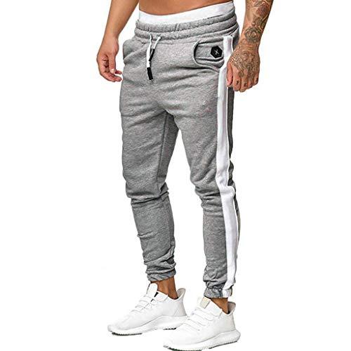 SHE.White Freizeithose Herren Lang,Jogger Männer Trainingsanzug Modern | Jungen Slim Fit Freizeithose | | Sporthose - Training - Trainingshose | -