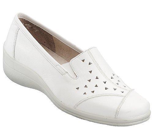 Trotteur, comfortabel sportslipper offre -slipper femme-semelle synthétique blanc Blanc - Blanc