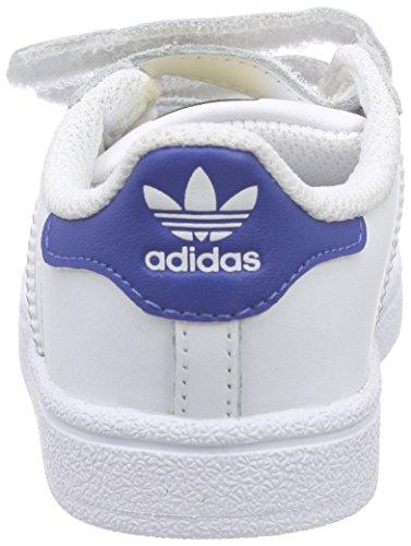 Adidas Superstar Foundation Cf, Premières Chaussures Unisexes - Kids 0-24 Blanc (weiß (ftwr White / Bleu Eqt S16 / Eqt Blue S16))