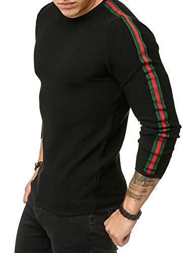 Red Bridge Herren Streifen Pullover Strickpullover Luxury Line Sweater  Schwarz S 5d35ea3075