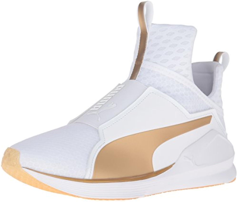 Zapato de entrenamiento Fierce Gold Cross-Trainer para mujer, blanco / dorado, 9 M US