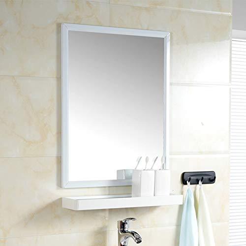 Bathroom mirror specchio spazio in alluminio specchio del bagno con mensola a muro bagno wc bagno moderno anti-fog minimalista specchio (rosso) specchio + ripiani: 48 * 60 cm