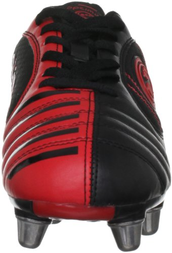 Optimum, Scarpe da Rugby Uomo Velocity Nero (schwarz/red)