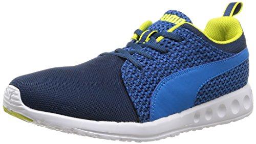 Puma Herren Carson Runner Knit Laufschuhe, Blau (poseidon-cloisonné-sulphur spring 01), 42 EU (Schuhe Running Puma Männer 2015)