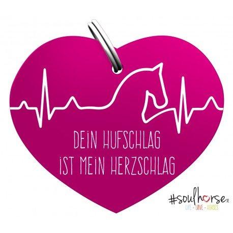 Soulhorse Pferde Glücksmarke #Herzschlag Sondermarke in pink fürs Halfter, Trense und Zaumzeug