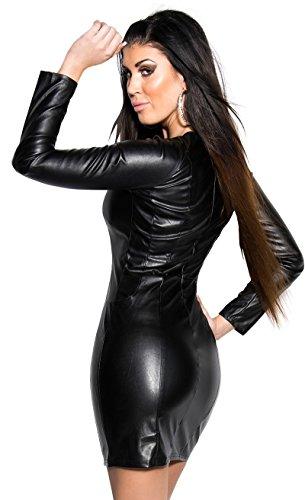 KouCla - Robe - Crayon - Manches Longues - Femme Noir Noir Noir - Noir
