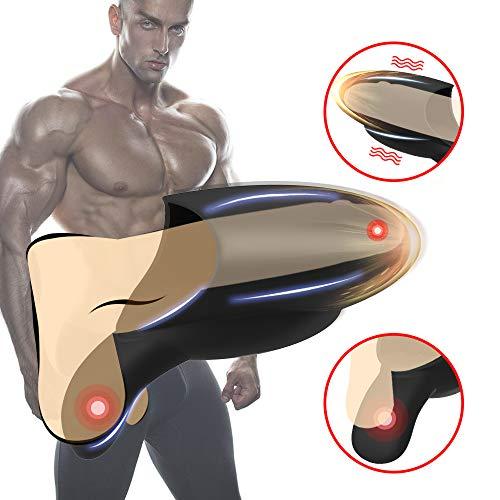 Massaggiatore Automatico Esercizi Muscolari per Uomo Massaggiatore con Particelle 3D Silicone Endurance Trainer-10 modalità