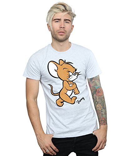 Tom and Jerry Herren Angry Mouse T-Shirt Sport Grau Medium