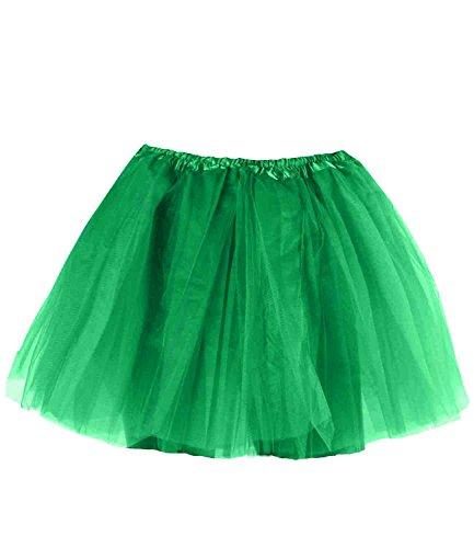 ock Tüllrock für Erwachsene und Kinder in vielen Farben - Tütü (grün - adult) (Tutu Erwachsene)