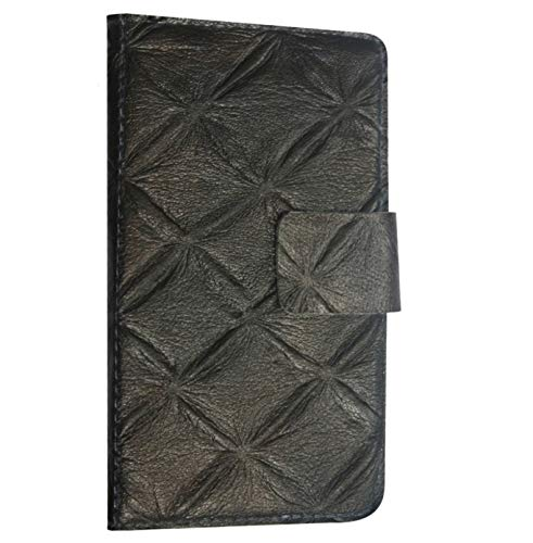 BKDT Marketing Leather Finish Flip Cover for Micromax Yunicorn Yu 5530 - Brown Boxed Pattern Design