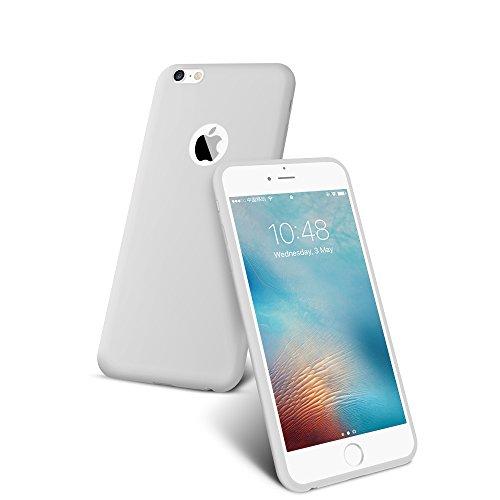 Preisvergleich Produktbild Schutzhülle Cover Matt Leicht, CAFELE Ultraslim Case TPU Hülle für Iphone 6/6S Plus (Weiß)