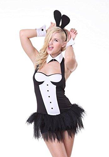 5 Stück Sexy Playboy-Bunny Qualität Kostüm Kleid Ohren Manschetten Kragen Größe 38