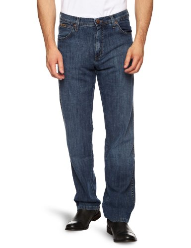 Wrangler - Texas Stretch - Jeans - Tapered - Homme Bleu (Linen Used)