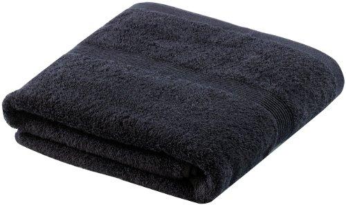 Wilson Gabor Baumwoll-Badetuch: Duschtuch aus Baumwoll-Frottee 140 x 70 cm, schwarz (Baumwolle-Frottee-Badetuch)