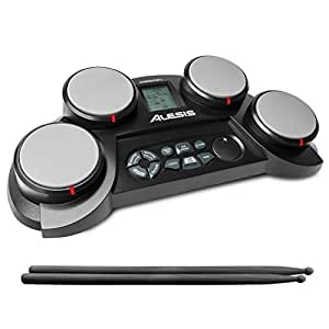 Alesis CompactKit 4 E-Drum Kit mit 4 Touch sensitiven Drumpads und Drumcoach