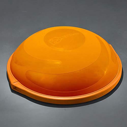 ZHLXZ Half Ball Balance Trainer, Ø 60Cm Inkl Hand Pumpe Beidseitig Nutzbar,Orange,B -