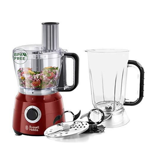 Russell Hobbs 24730-56 Robot Cuisine Multifonction Desire, Hâche, Mixe, Tranche, Râpe, Lames Pétrin, Batteur, Compatible Lave-Vaisselle, 7 Accessoires