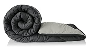 Amazon Brand - Solimo Microfibre Reversible Comforter, Single (Pale Grey & Steel Grey, 200 GSM)