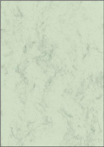 Sigel dp552 carta da lettere/carta marmorizzata, verde pastello, a4, 200 g, 50 fogli