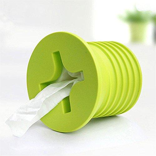 Yiuswoy Niedlich Nagel Geformte Kosmetiktuecherbox Toilettenpapierhalter Speicher Kleenex Box Gewebe Box Fuer Bad Kueche Buero - Gruen