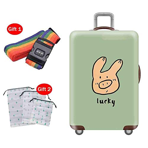Preisvergleich Produktbild Suitcase Cover Kofferabdeckung Travel Anti-Skid Anti-Theft-Schutzhülle Elastic Shockproof Breathable Water Wash Gepäcktasche 18-32 Zoll, 2, S