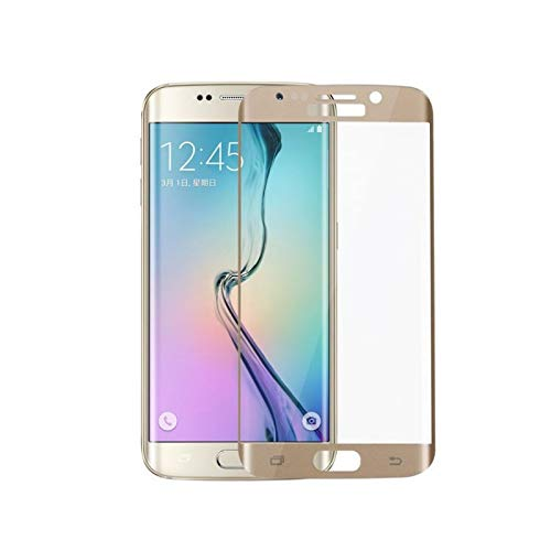 WebViktory Schutzglas für Samsung Galaxy S7 Edge [2 Stück] [3D Full Cover] [Tempered Glass Curved] [Anti-Kratz] [Anti-Öl] [9H gehärtetes Glas] [Bildschirmschutzfolie] (Samsung Galaxy S7 Edge, Gold)