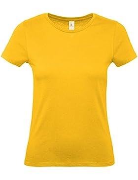 CHEMAGLIETTE! Pacchetto 3 T-Shirt Donna Magliette da Lavoro Cotone B&C E150 Woman Prezzo Stock
