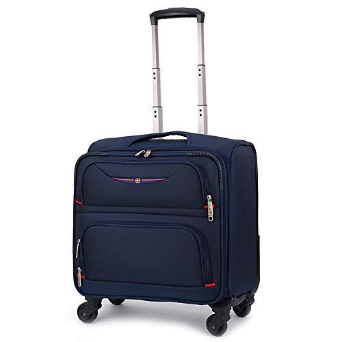CX TECH Spinner Luggage Business Reisetasche auf Rädern Handgepäck für mobiles Büro Classic Lightweight Boarding Trolley Rolling Tote,Blue -