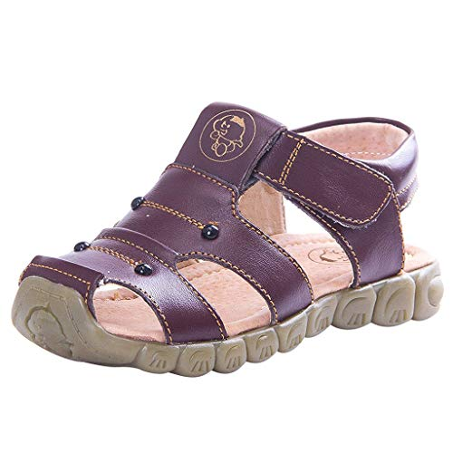 Abstand Unisex-Kinder Sneakers Mode Blinkschuhe Low-Top Casual Outdoor Jungen Mädchen,Kleinkind Kleinkinder Baby Mädchen Jungen Leder Closed Toe Soft Strand Schuhe Sandalen -