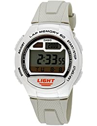 Casio - W-734-7A - Sports - Montre Mixte - Quartz Digital - Cadran LCD - Bracelet Résine Blanc