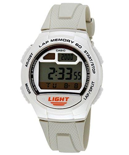 Casio - W-734-7A - Sports - Montre Mixte - Quartz Digital - Cadran LCD - Bracelet Résine Blanc