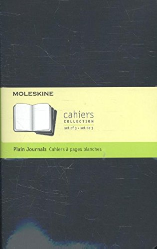Moleskine Set de 3 cahiers pages blanches Grand format Couverture souple 13 x 21 cm Noir