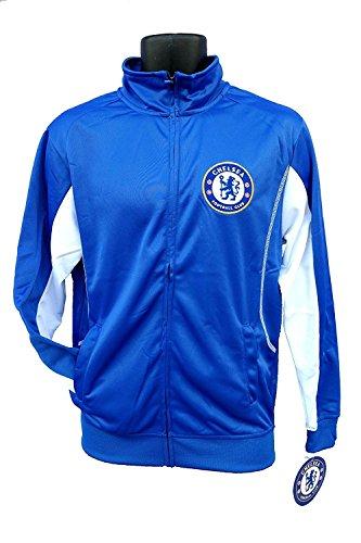 Chelsea FC Erwachsene blau Fußball Fußball Jacke Track Zip Up 2015-2016, blau / weiß Arsenal Hoody