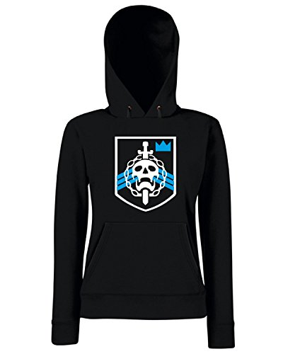 T-Shirtshock - Sweats a capuche Femme TGAM0018 Destiny Raid Trophy Emblem Noir