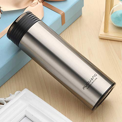 Gourdes Tasses de Voiture d'affaires des Hommes et des Femmes Vide Tasse en Acier Inoxydable Tasse à thé Portable Lettrage personnalisé